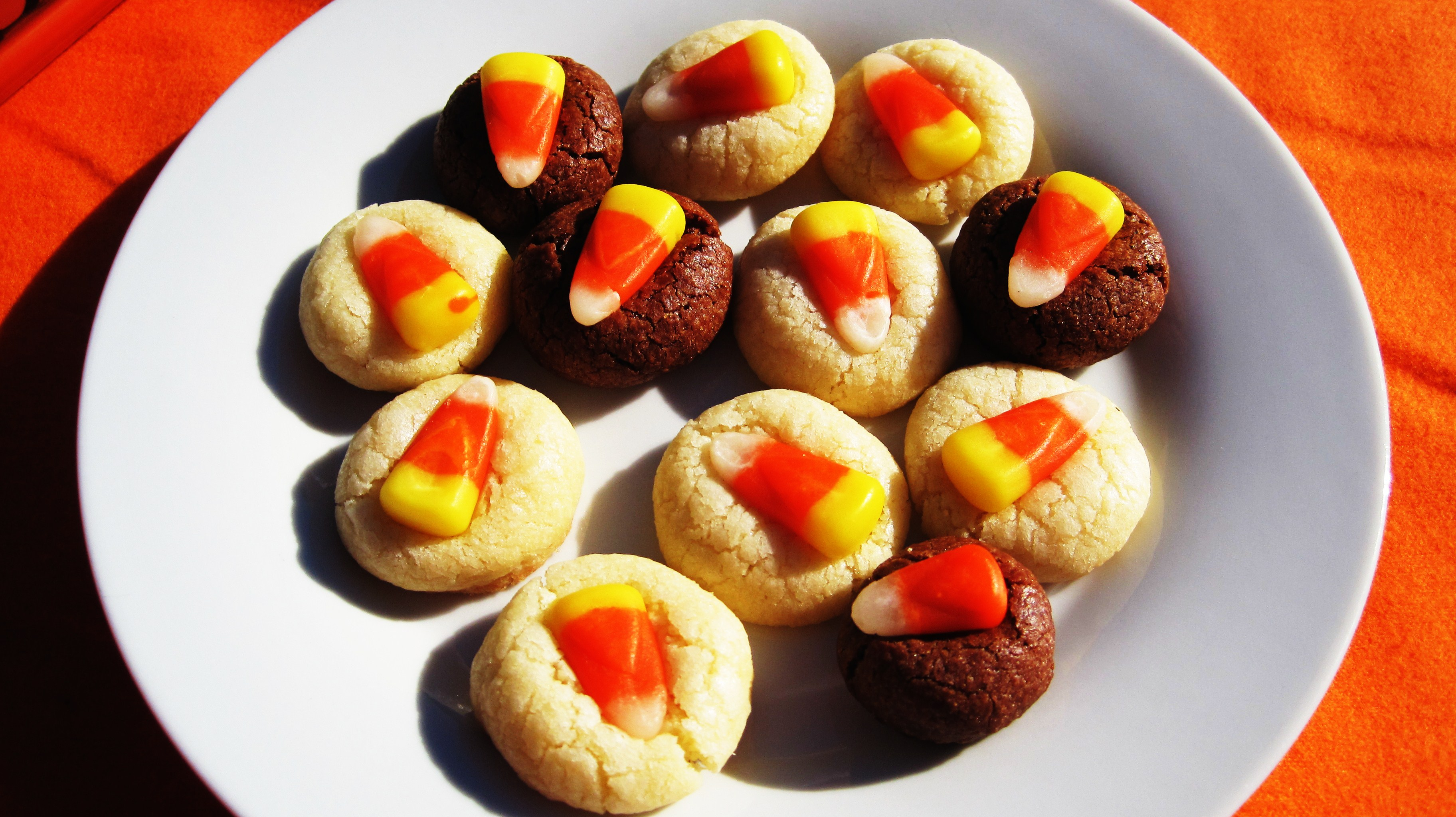 Candy Corn Sugar Cookies – Adapted from Martha Stewart