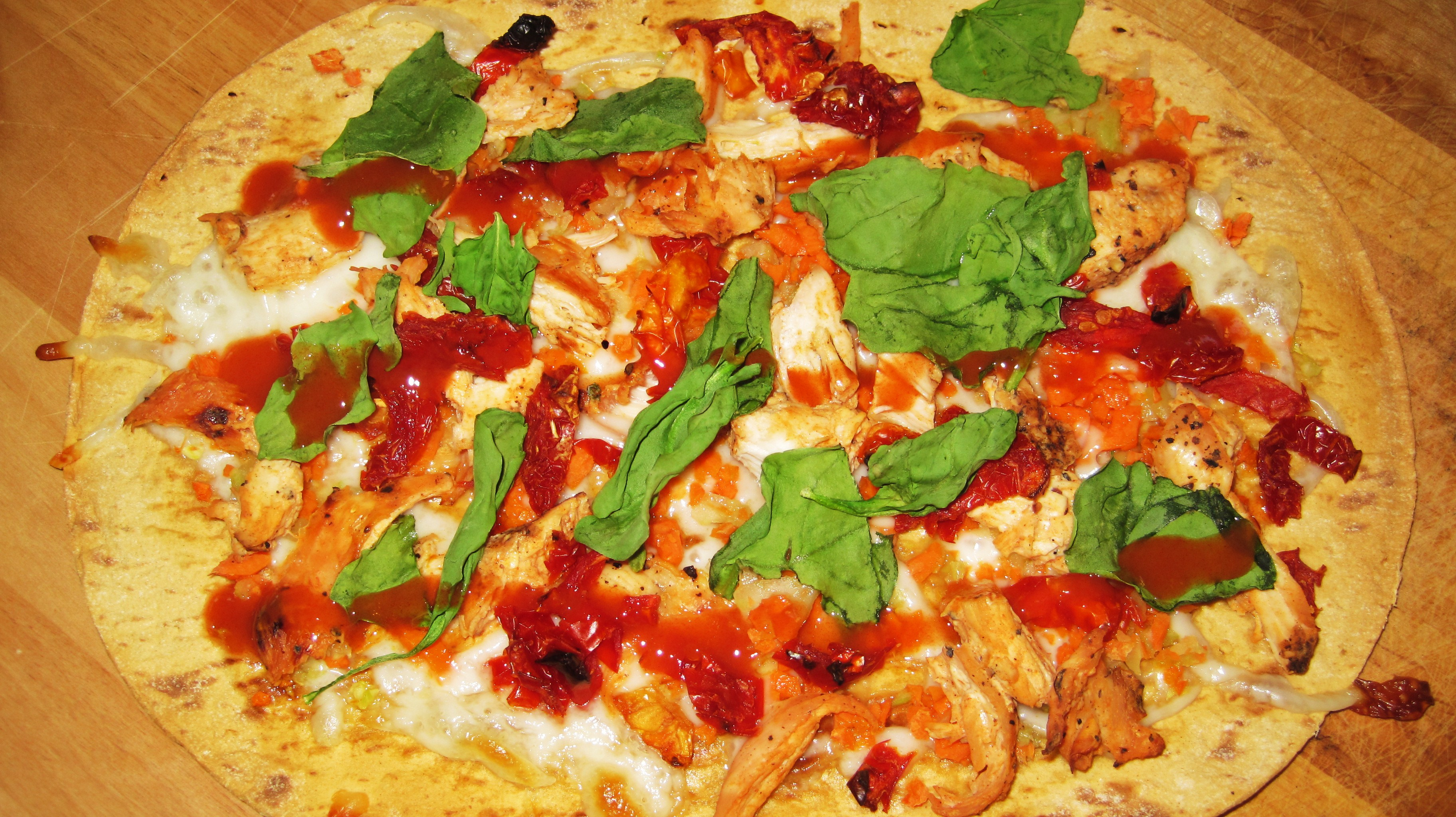 Flat Bread Recipe Pizza Buffalo Chicken
