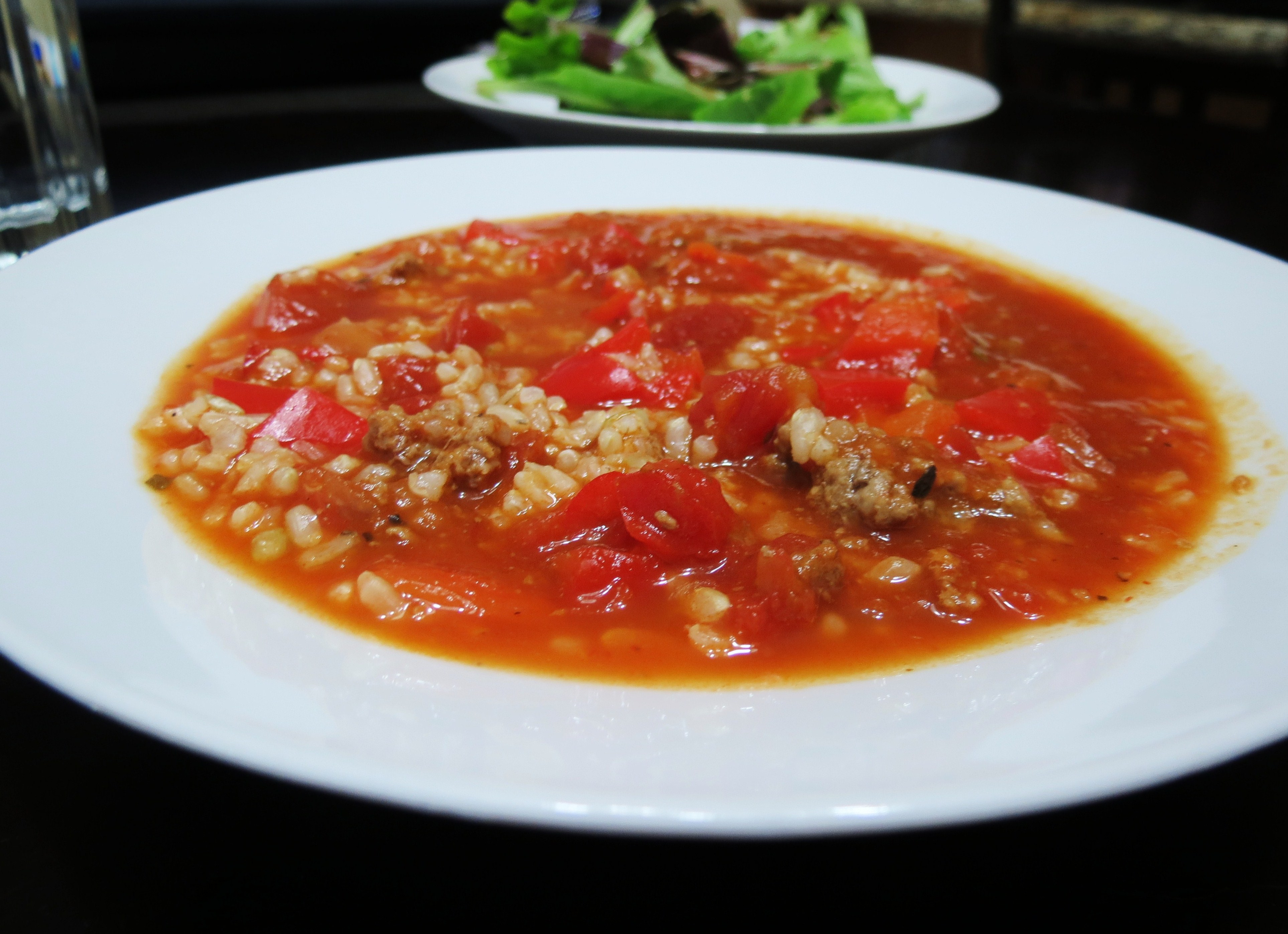 Stuffed Pepper Soup | Peanut Butter and Peppers