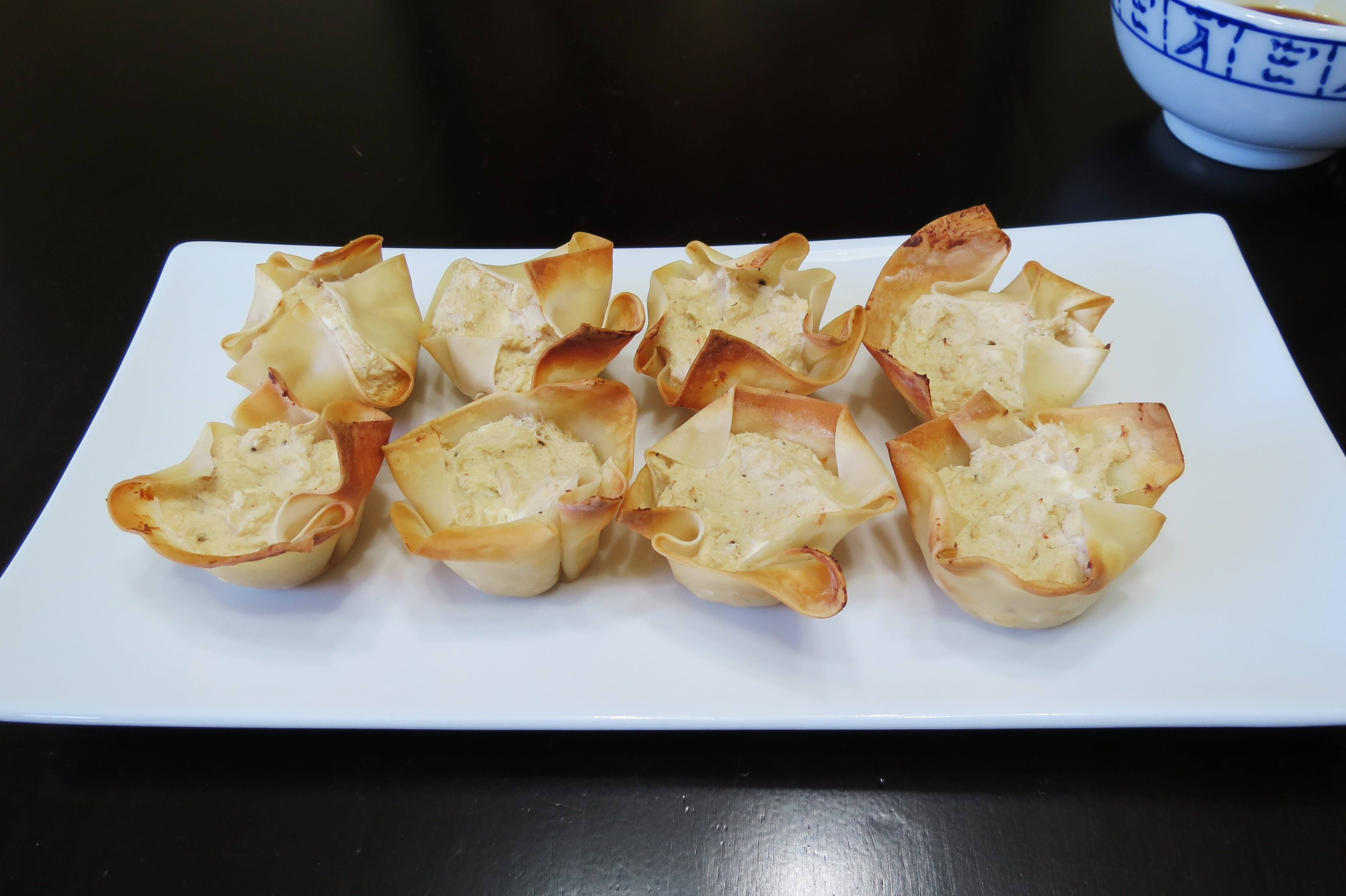 Wonton Cups With Cream Cheese And Chutney Recipes — Dishmaps
